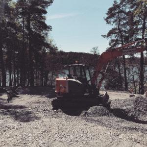 schakt grävmaskin markarbete